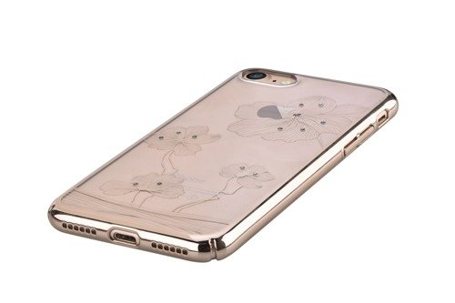 Comma Crystal Flora 360  for iPhone 7 Champagne Gold