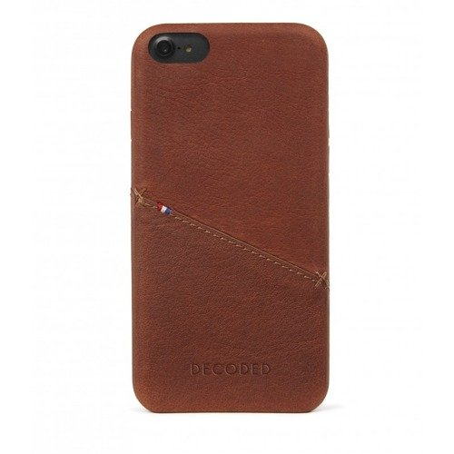 Etui skórzane Decoded (Brązowy) - DECODED Leather Back Cover for iPhone 7 / 6S