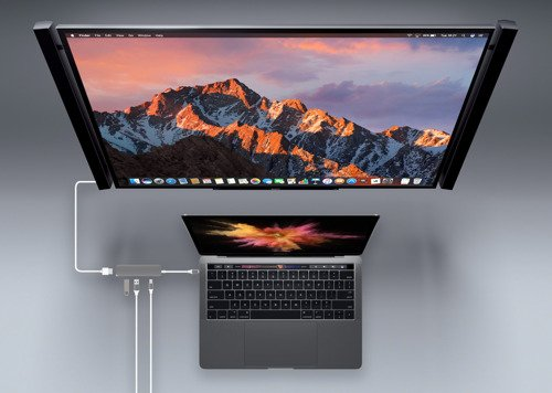 "HyperDrive USB-C Hub with 4K HDMI Support (2016 MacBook Pro & 12"" MacBook) (Silver)"