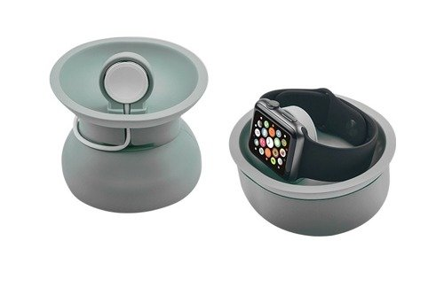 JCPAL Mix Charging Bowl - ładowarka do Apple Watch - szary