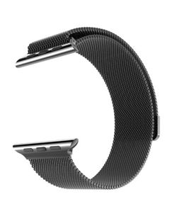 Pasek do Apple Watch - Metal Watchband (Milanese Loop) for Apple Watch 42 mm (czarny)